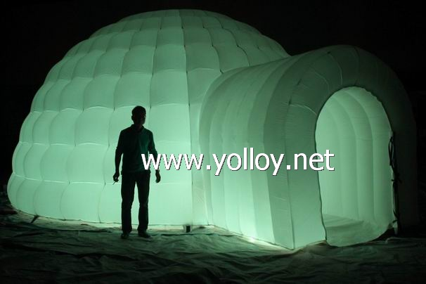LED Inflatable Igloo Dome Tent