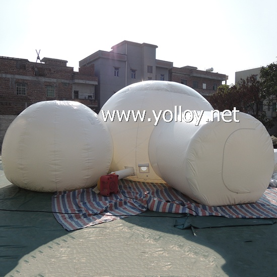 Inflatable Half Transparent Dome Tent
