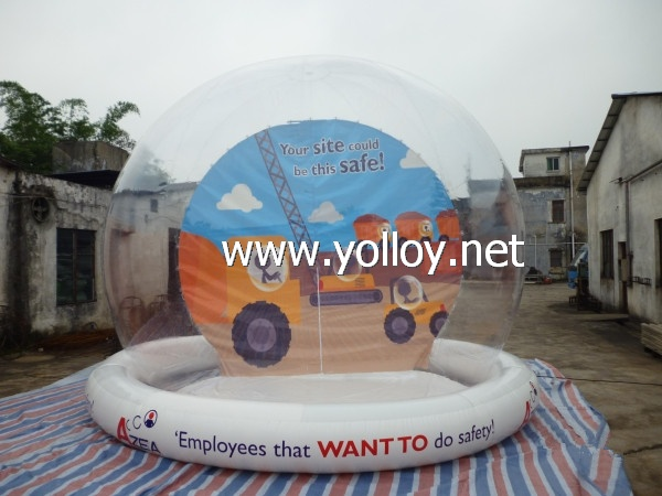 inflatable clear globe for holiday decoration