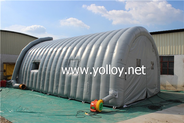 Grey Blasting and painting Tents