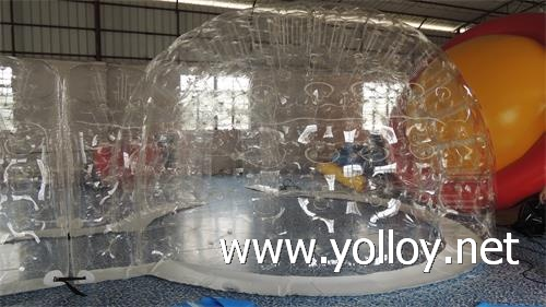 clear inflatable dome tent