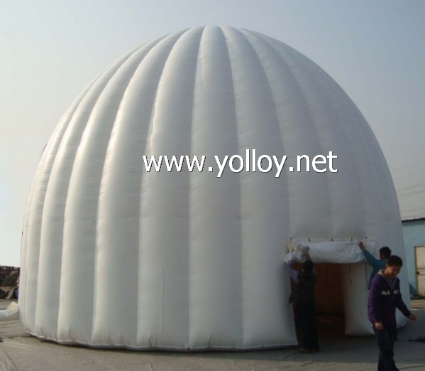 inflatable white dome tent