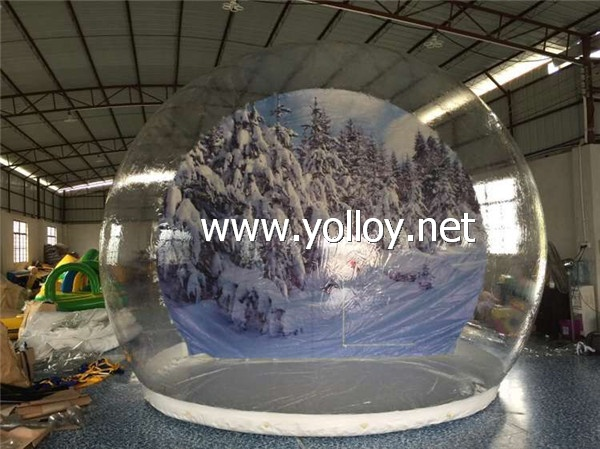 Size:4.5m diameter                                                                                             material:clear PVC and PVC tarpaulin 