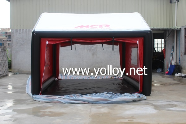 Inflatable shelter tent for racing show