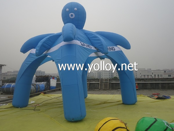 blue advertising dome tent