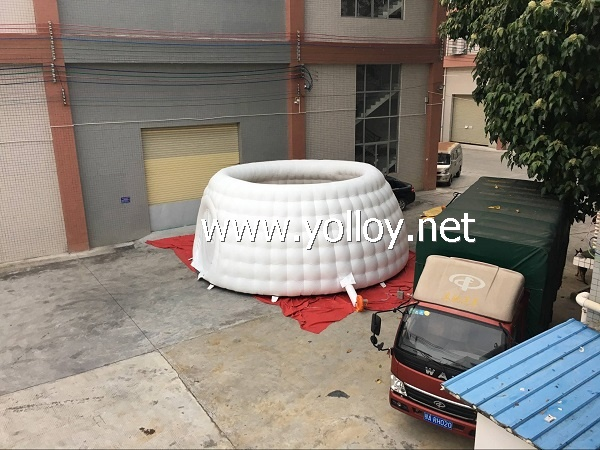 Inflatable mobile dome room tent for meeting