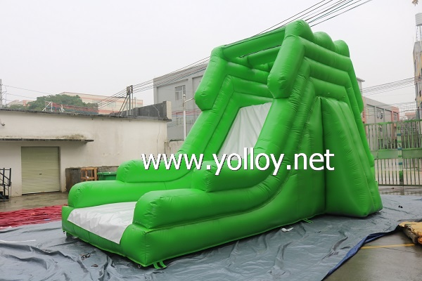 Inflatable Green Large Dry Slide For Kids and Adults