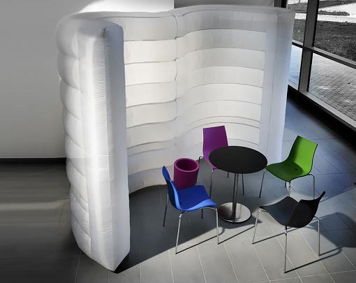 wave shape inflatable wall