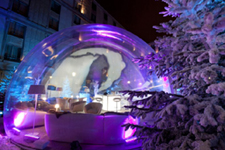how to make a human sized snow globe