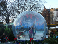 how to build a life size snow globe