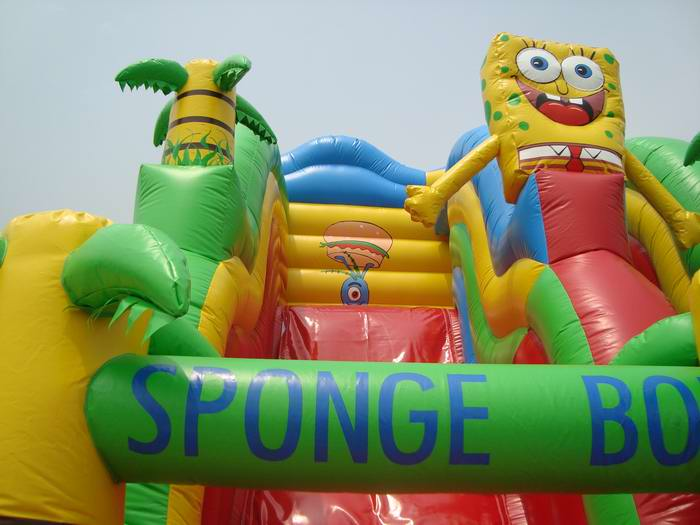 sponge bob jungle slide