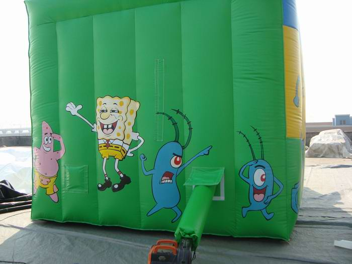 Yolloy Sponge Bob Inflatable Slide With Palm Tree For Sale