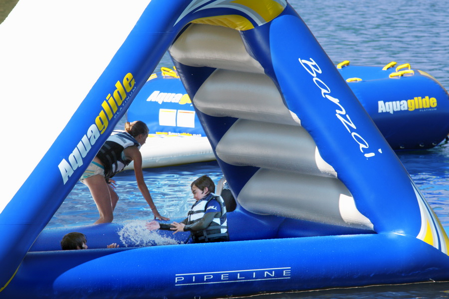 freefall inflatable water slide