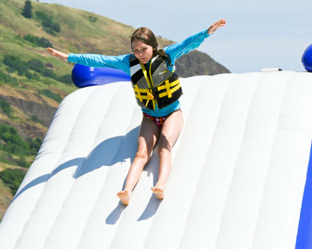 free fall inflatable slide