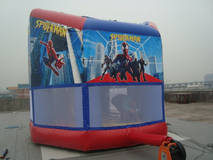 spiderman bouncy house--back