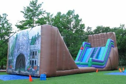 zip line bouncy slide