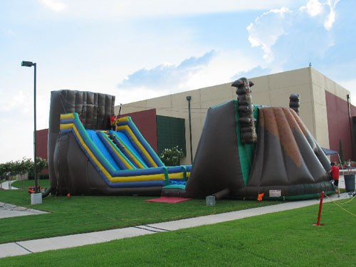 inflatable zip line obstacles