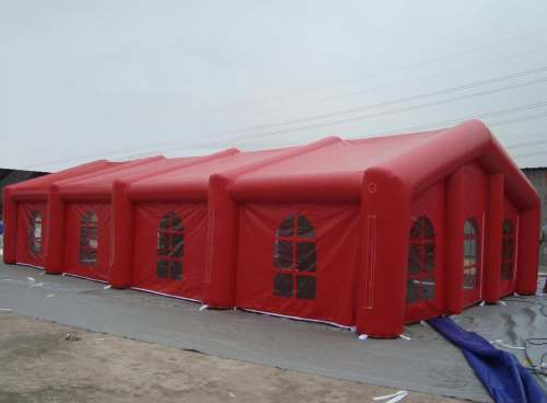 red inflatable wedding tent