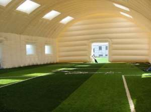 white sport hall tent