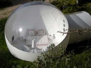 half transparent bubble tent