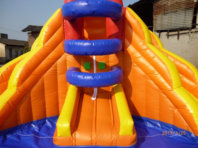 Yolloy Small Double Inflatable Water Slide For Pool For Sale