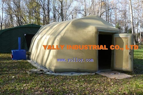 anti-cold inflatable tent in winter