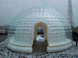 clear and white sealed inflatable camping tent