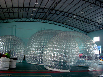 Heat welding with high temperature machine 4.Custom design available; 5. Certified pumps or blowers(CE / UL) affiliated; 6.2 year limited warranty ... & Yolloy clear inflatable garden tent for sale