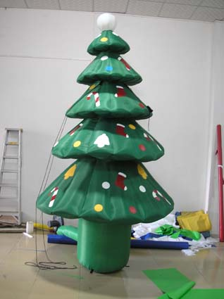 Yolloy large outdoor inflatable christmas decoration tree for Large outdoor christmas decorations for sale