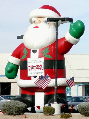 outdoor santa inflatable decoration