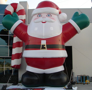 Giant santa inflatable