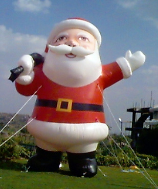 santa clause inflatable giant santa outdoor - Huge Inflatable Christmas Decorations