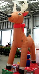 10ft inflatable reindeer