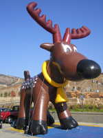 Giant inflatable reindeer