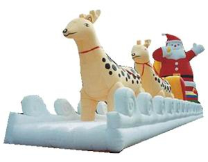 inflatable sleigh