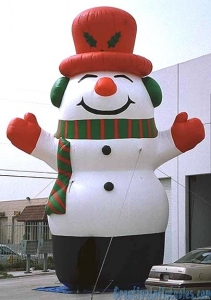 Giant snowman inflatable