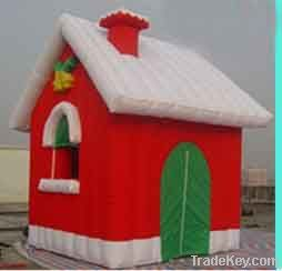 Xmas inflatable cabin