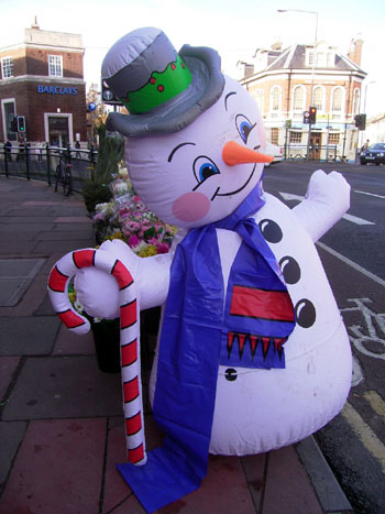 Happy large blow up snowman