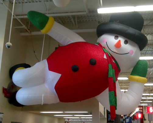 Lazy Frosty snowman inflatable