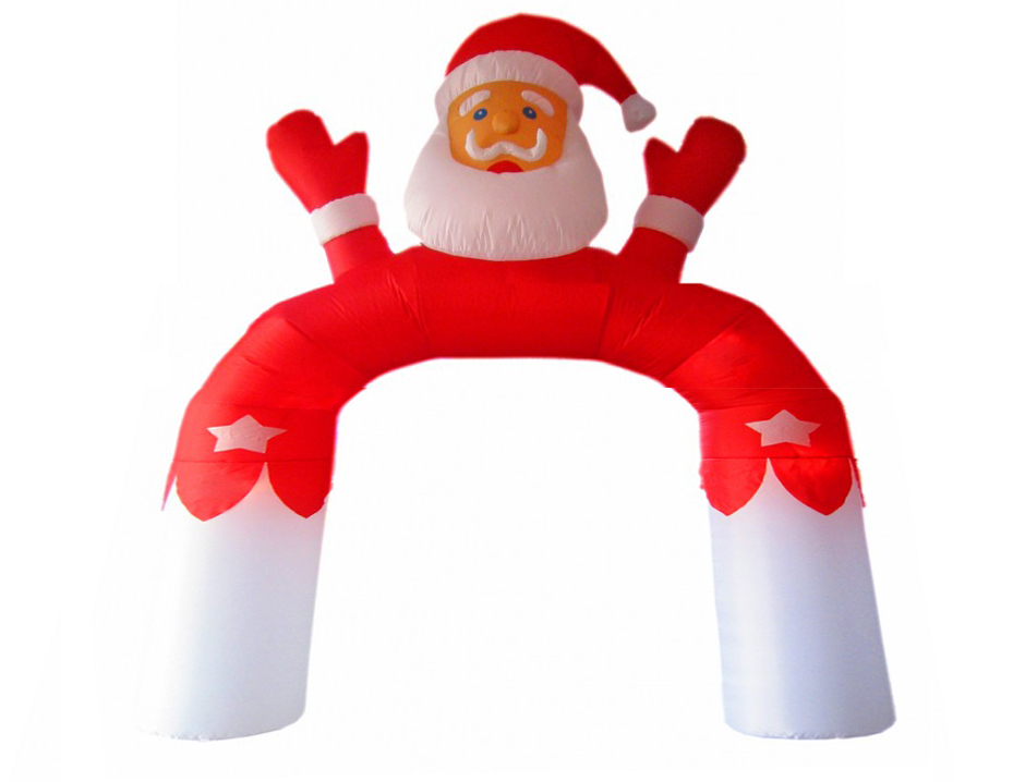 Santa inflatable arch