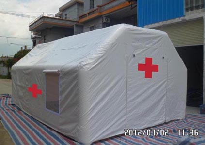 emergency Red cross inflatable tent