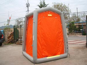 One man decontamination shower portable