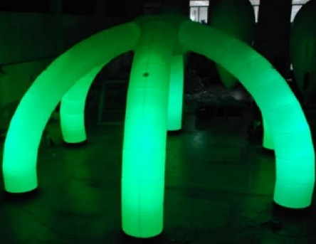 Green light inflatable dome