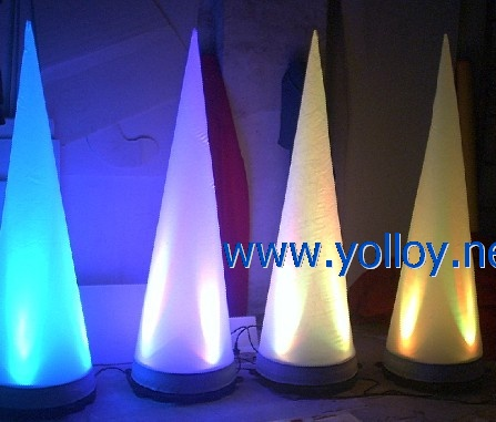 lighting inflatable cone