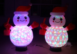 rotation snow man inflatable light decoration