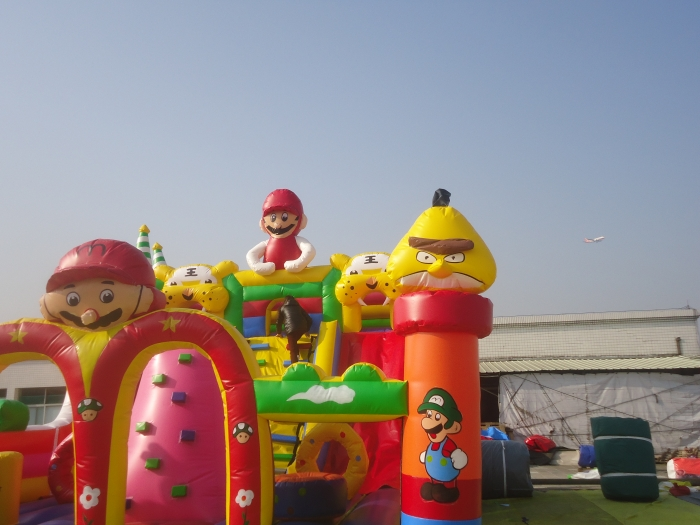 Details for angry bird inflatable slide