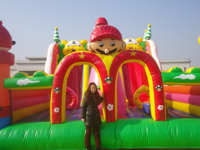 big super mario for the inflatable slide