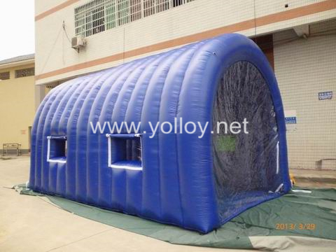 Yolloy Outdoor Mobile Temporary White Inflatable Car Cover