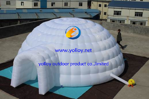 Portable Inflatable Shelters : Yolloy blow up portable inflatable meeting igloo dome tent