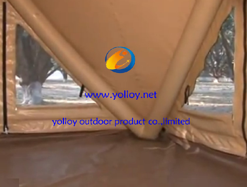 inflatable facet tent internal view